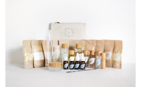 Ingrédients et accessoires de cosmétique maison